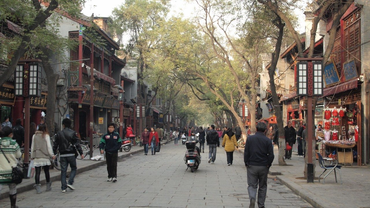 photo of street in Xi'an - China tours