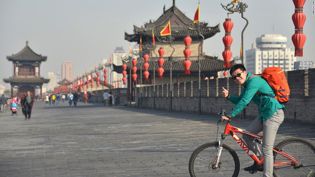 Xi'an city wall - tour china