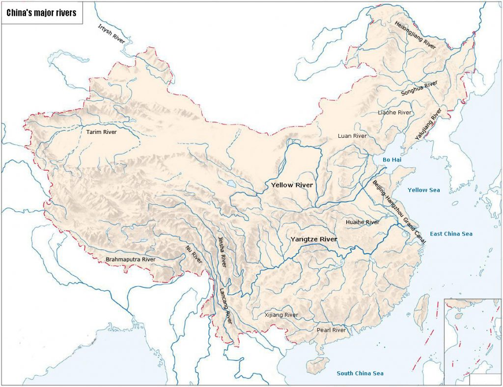 Major rivers in China - tours to China