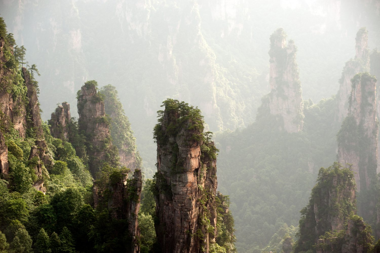 Mysterious Mountains Zhangjiajie, Hunan Province In China. - China Tour operators