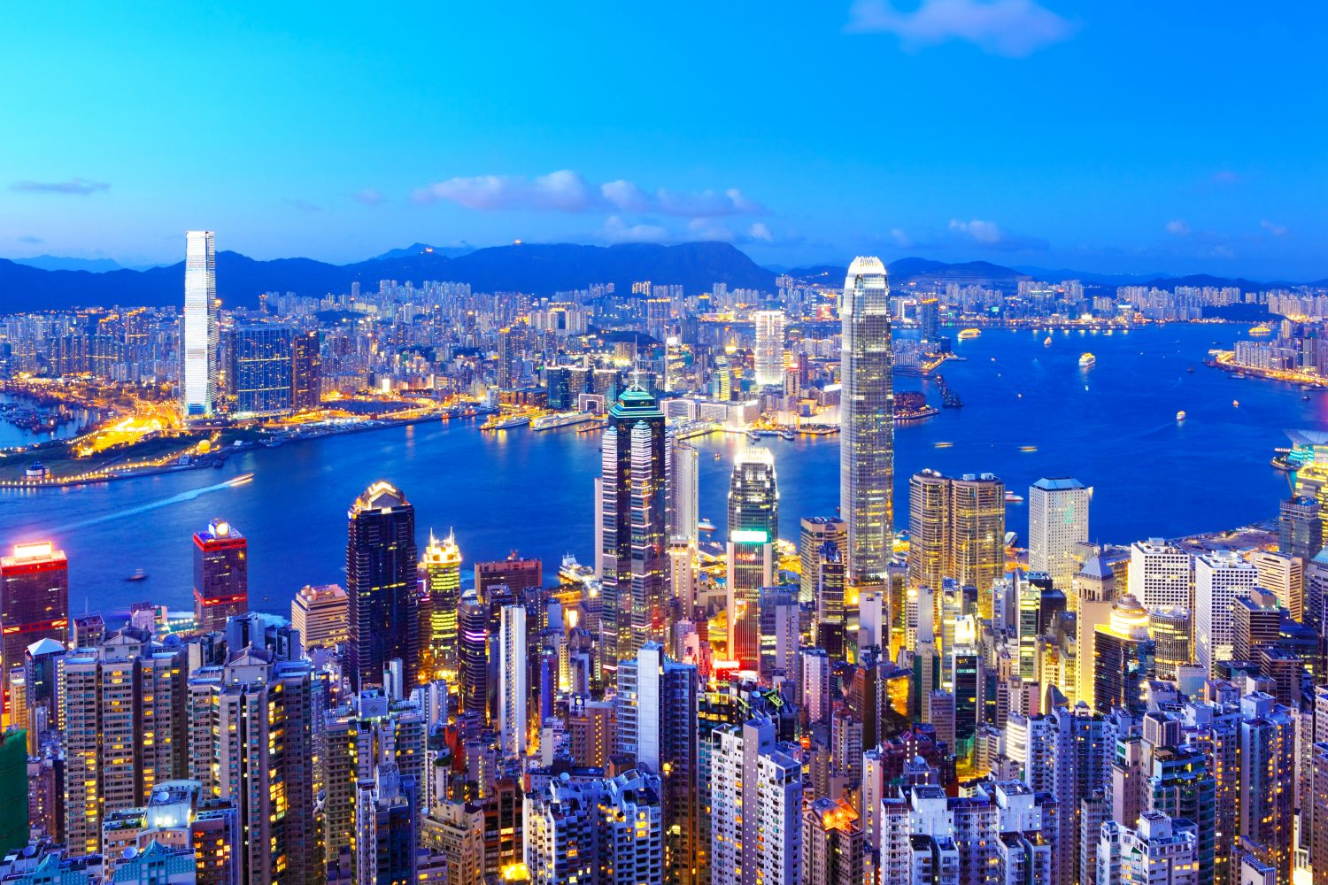 Night view of Hong Kong - China tour operators