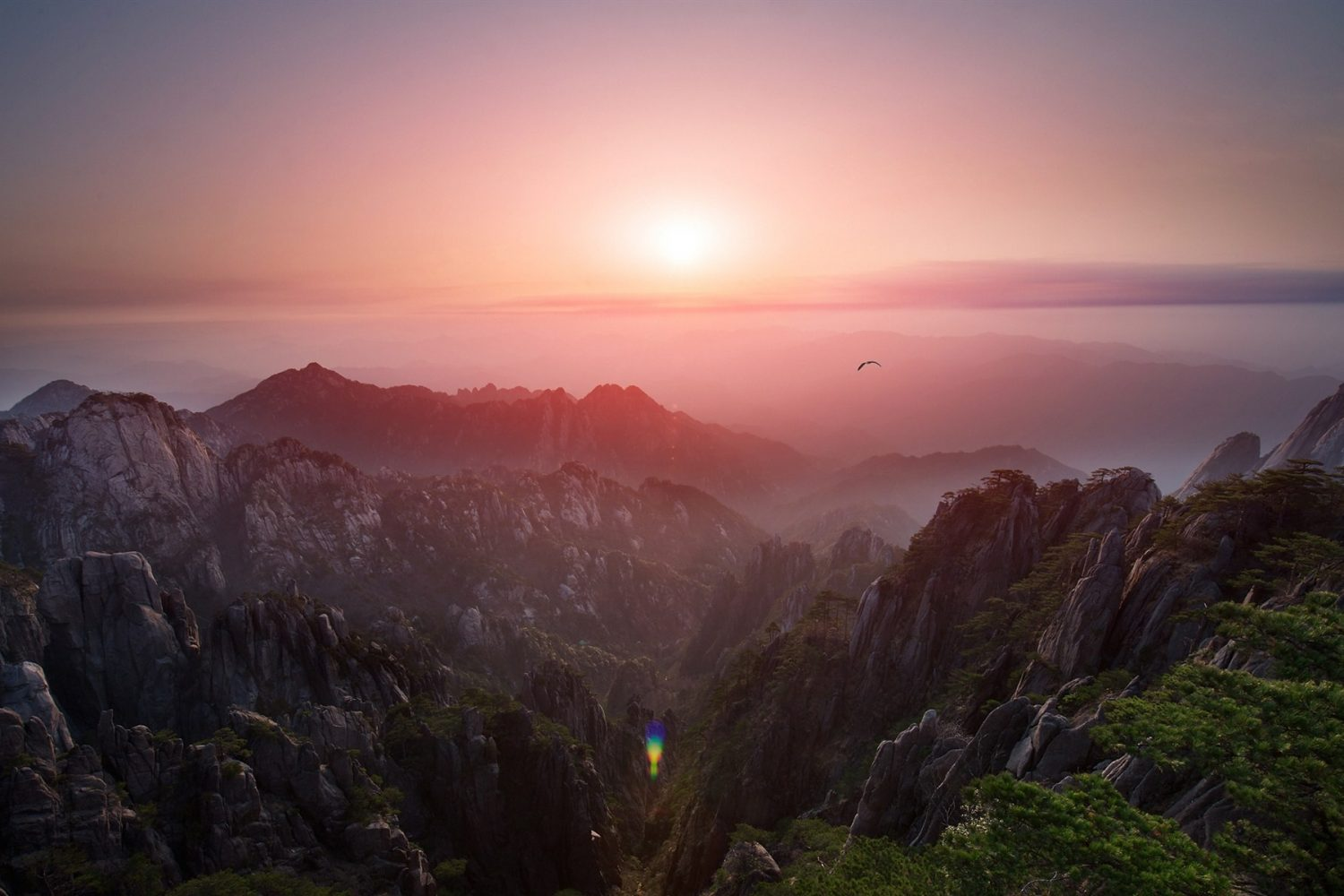 view from Mt Huangshan - China tours
