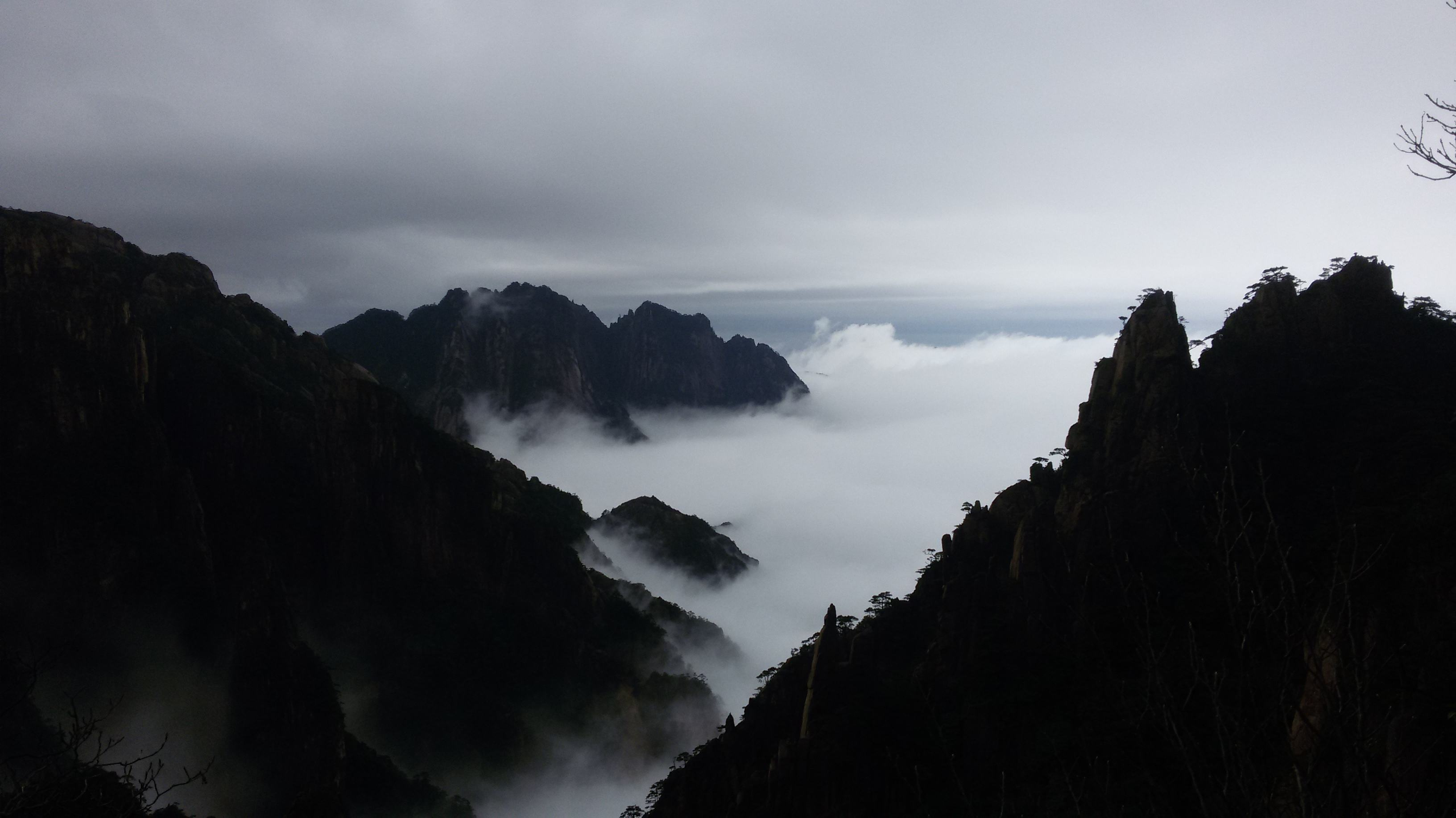 mountains of huangshan, China - trip to China