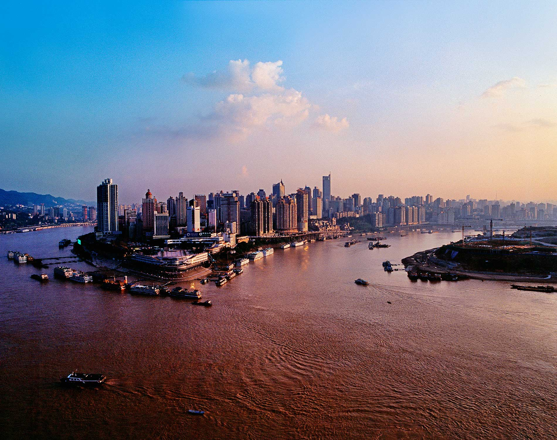 Aerial view of Chongqing city - China Tours