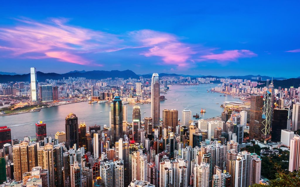 Hong Kong skyline - China Tour