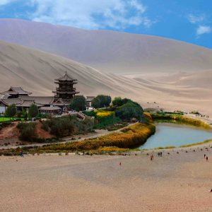photo of moon lake spring in dunhuang - China tour packages