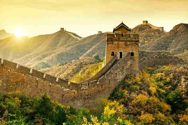 Great wall of China at Jinshanling - China travel