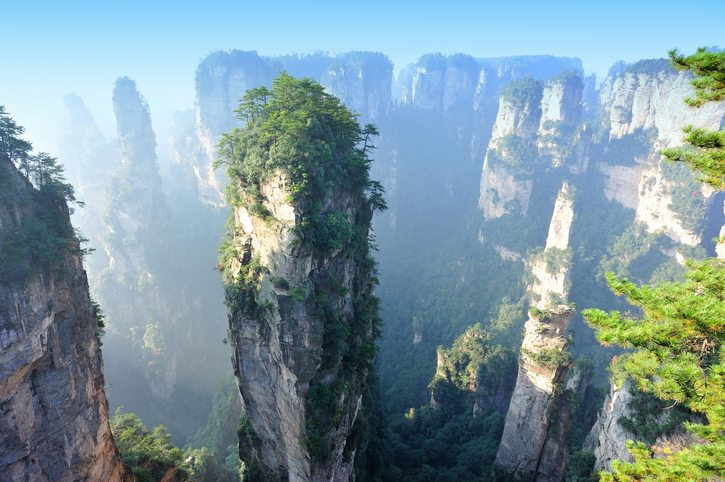 China tour package - Mountain landscape of Zhangjiajie Wulingyuan National Park, Unesco world heritage site,Hunan province, China