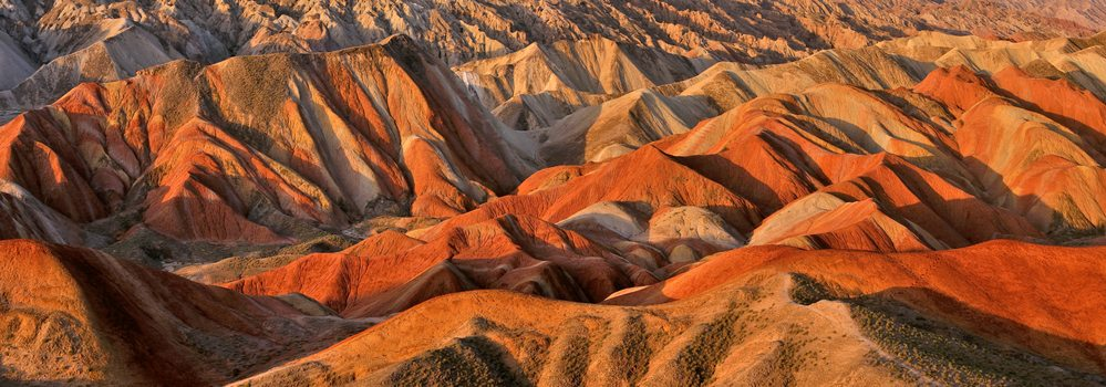 Danxia landform at sunset, Zhangye, Gansu, China - China Travel